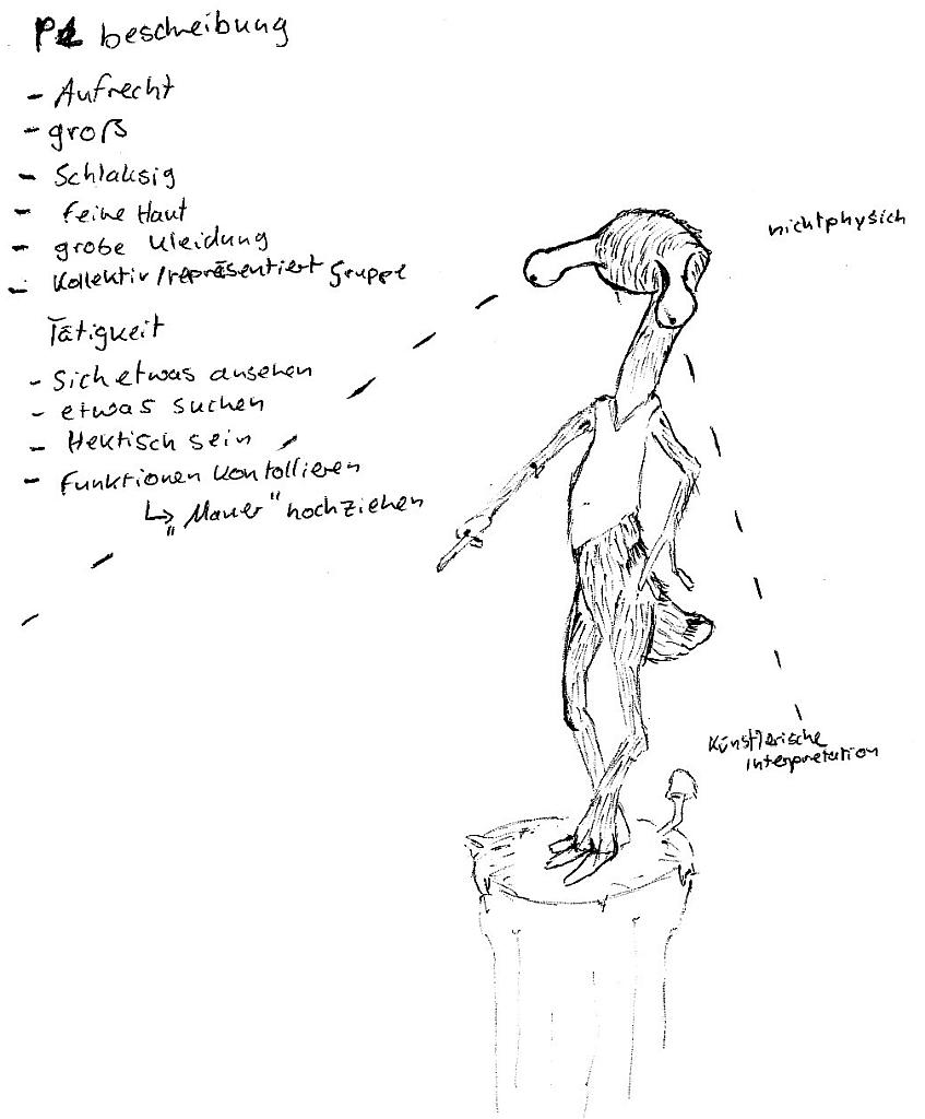 Entführungsprojekt - Frau A - Wesen (künstlerisch)